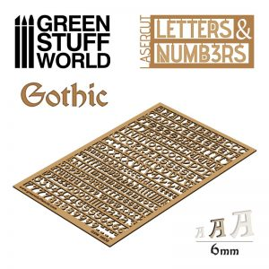 Green Stuff World   Modelling Extras Letters and Numbers 6mm GOTHIC - 8435646501307ES - 8435646501307