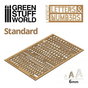 Green Stuff World   Modelling Extras Letters and Numbers 6mm STANDARD - 8435646501338ES - 8435646501338