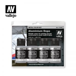Vallejo   Metal Colour AV Vallejo Metal Color Set - Aluminium - VAL77603 - 8429551776035