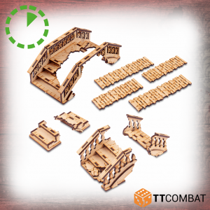 TTCombat   Streets of Venice (28-32mm) Ruined Bridges - TTSCW-SOV-174 -
