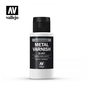 Vallejo   Metal Colour AV Vallejo Metal Color - Gloss Metal Varnish 60ml - VAL26657 - 8429551266574