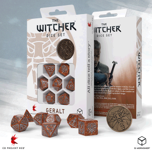Q-Workshop   The Witcher Dice The Witcher Dice Set: Geralt  - The Monster Slayer - SWGE3U - 5907699496099