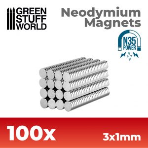 Green Stuff World   Magnets Neodymium Magnets 3x1mm - 100 units (N35) - 8436554365609ES - 8436554365609
