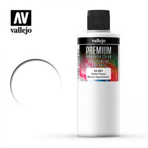 Vallejo   Premium Airbrush Colour AV Vallejo Premium Color - 200ml - White Primer - VAL63061 - 8429551630610