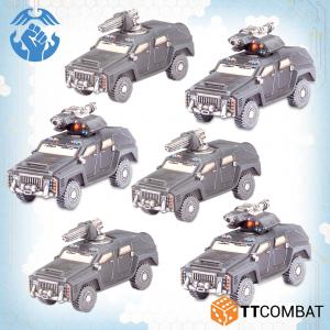 TTCombat Dropzone Commander  Resistance Land Vehicles Resistance Kalium Rocket Technicals - TTDZR-RES-031 - 5060880911389