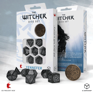 Q-Workshop   The Witcher Dice The Witcher Dice Set: Yennefer - The Obsidian Star - SWYE37 - 5907699496068