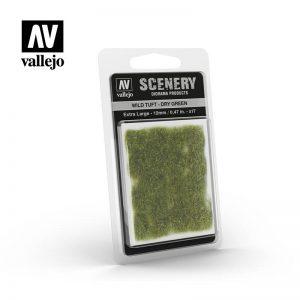 Vallejo   Vallejo Scenics AV Vallejo Scenery - Wild Tuft - Dry Green, XL: 12mm - VALSC424 - 8429551986229