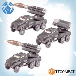 TTCombat Dropzone Commander  Resistance Land Vehicles Resistance Kalium Storm Artillery Wagons - TTDZR-RES-033 - 5060880911402
