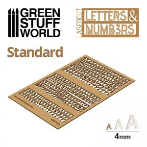 Green Stuff World   Modelling Extras Letters and Numbers 4mm STANDARD - 8435646501321ES - 8435646501321