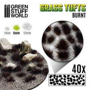 Green Stuff World   Tufts Grass TUFTS - 6mm self-adhesive - BURNT - 8435646501635ES - 8435646501635