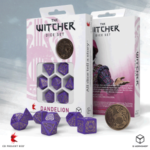 Q-Workshop   The Witcher Dice The Witcher Dice Set: Dandelion - Viscount de Lettenhove - SWDA3Q - 5907699496136