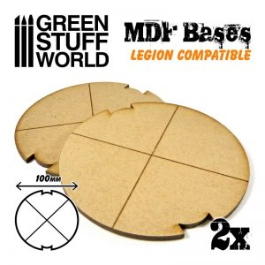 Green Stuff World   MDF Bases MDF Bases - Round 100mm (Legion) - 8435646502311ES - 8435646502311