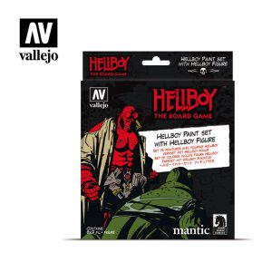Vallejo   Model Colour AV Vallejo Model Color Set - Hellboy (8 paints & figure) - VAL70187 - 8429551701877