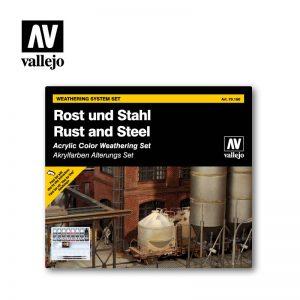 Vallejo   Model Colour AV Vallejo Model Color Set - Rust and Steel Effects - VAL70150 - 8429551701501