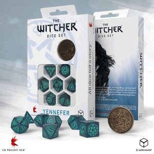 Q-Workshop   RPG / Polyhedral The Witcher Dice Set: Yennefer - Sorceress Supreme - SWYE3W - 5907699496075