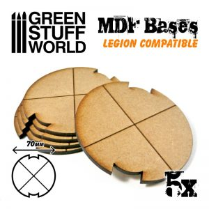 Green Stuff World   MDF Bases MDF Bases - Round 70mm (Legion) - 8435646502304ES - 8435646502304