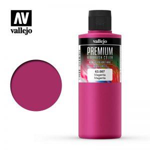Vallejo   Premium Airbrush Colour AV Vallejo Premium Color - 200ml - Opaque Magenta - VAL63007 - 8429551630078