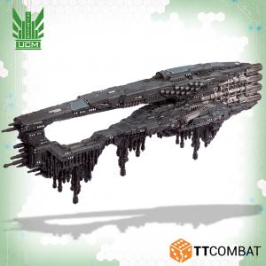 TTCombat Dropfleet Commander  UCM Fleet UCM Rome Battlecruiser - TTDFR-UCM-008 - 5060880911600