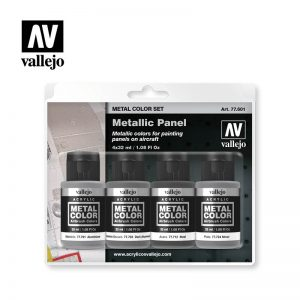 Vallejo   Metal Colour AV Vallejo Metal Color Set - Metallic Panel - VAL77601 - 8429551776011