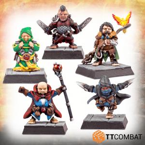 TTCombat   TTCombat Miniatures Classic Halfling Adventurers - TTFHR-HLF-026 -