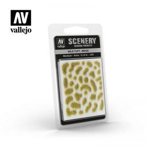 Vallejo   Vallejo Scenics AV Vallejo Scenery - Wild Tuft - Beige, Medium: 4mm - VALSC408 - 8429551986069