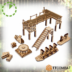 TTCombat   World War Scenics Warehouse Machinery - TTSCW-WAR-060 -
