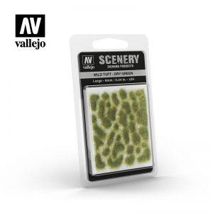 Vallejo   Vallejo Scenics AV Vallejo Scenery - Wild Tuft - Dry Green, Large: 6mm - VALSC415 - 8429551986137