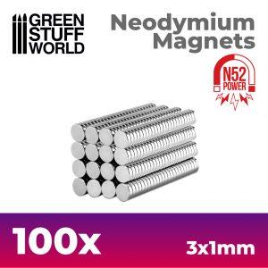 Green Stuff World   Magnets Neodymium Magnets 3x1mm - 100 units (N52) - 8436554367627ES - 8436554367627