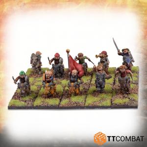 TTCombat   TTCombat Miniatures Halfling Goat Rider Warriors - TTFHR-HLF-024 -