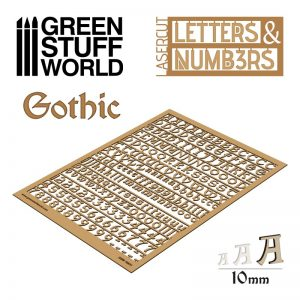 Green Stuff World   Modelling Extras Letters and Numbers 10mm GOTHIC - 8435646501314ES - 8435646501314