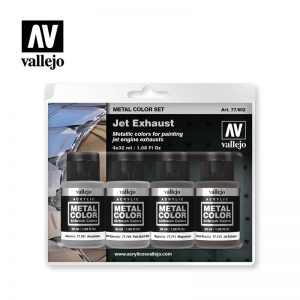 Vallejo   Metal Colour AV Vallejo Metal Color Set - Jet Exhaust - VAL77602 - 8429551776028
