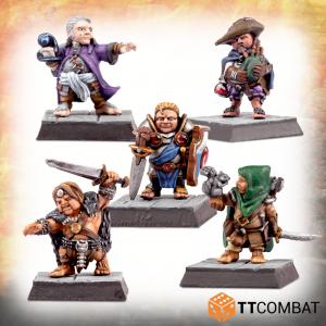 TTCombat   TTCombat Miniatures Traditional Halfling Adventurers - TTFHR-HLF-027 -