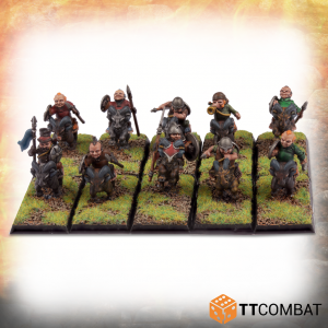 TTCombat   TTCombat Miniatures Halfling Goat Rider Spearmen - TTFHR-HLF-025 -
