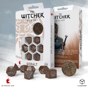 Q-Workshop   RPG / Polyhedral The Witcher Dice Set: Geralt  - The Roach's Companion - SWGE3V - 5907699496082