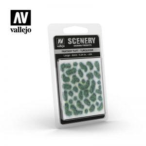 Vallejo   Vallejo Scenics AV Vallejo Scenery - Fantasy Tuft - Turquoise, Large: 6mm - VALSC432 - 8429551986304