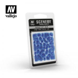 Vallejo   Vallejo Scenics AV Vallejo Scenery - Fantasy Tuft - Blue, Large: 6mm - VALSC434 - 8429551986328
