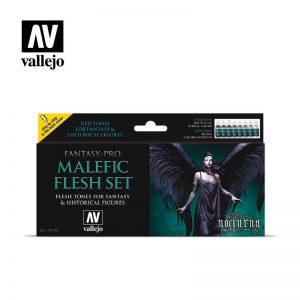Vallejo   Fantasy Pro AV Vallejo Fantasy Set - Malefic Flesh - VAL74102 - 8429551741026