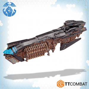TTCombat Dropfleet Commander  The Resistance Fleet Resistance Senator Battlecruiser - TTDFR-RES-008 - 5060880911648