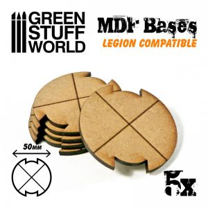Green Stuff World   MDF Bases MDF Bases - Round 50mm (Legion) - 8435646502298ES - 8435646502298
