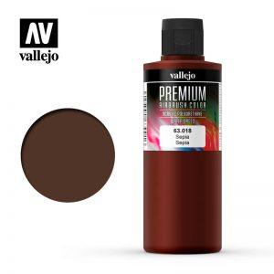 Vallejo   Premium Airbrush Colour AV Vallejo Premium Color - 200ml - Opaque Sepia - VAL63018 - 8429551630184