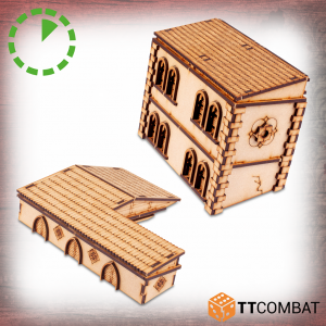 TTCombat   Streets of Venice (28-32mm) Large Sunken Buildings - TTSCW-SOV-163 -