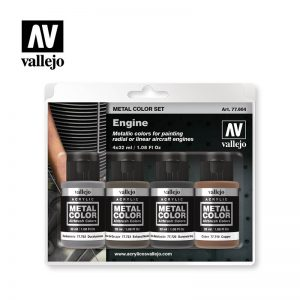 Vallejo   Metal Colour AV Vallejo Metal Color Set - Engine - VAL77604 - 8429551776042
