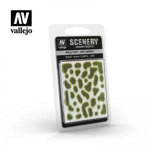 Vallejo   Vallejo Scenics AV Vallejo Scenery - Wild Tuft - Dry Green, Small: 2mm - VALSC401 - 8429551985994
