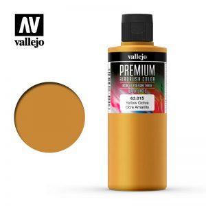 Vallejo   Premium Airbrush Colour AV Vallejo Premium Color - 200ml - Opaque Yellow Ochre - VAL63015 - 8429551630153