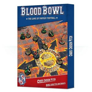 Games Workshop (Direct) Blood Bowl  Blood Bowl Blood Bowl: Chaos Chosen Double-sided Pitch and Dugouts Set - 99220901008 -