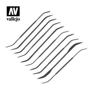Vallejo   Vallejo Tools AV Vallejo Tools - Budget Riffler File Set (10pc) - VALT03003 - 8429551930116