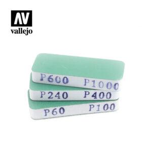 Vallejo   Vallejo Tools AV Vallejo Tools - Flexisander Dual Grit x3 (80x30x12mm) - VALT04004 - 8429551930048