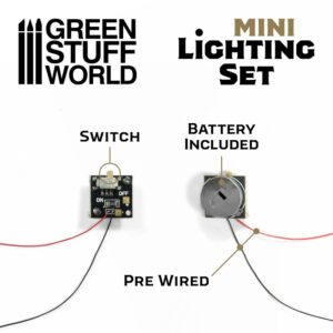 Green Stuff World   Lighting & LEDs Mini lighting Set With switch and CR927 Battery - 8435646502076ES -