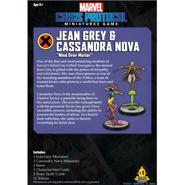 Atomic Mass Marvel Crisis Protocol  Marvel: Crisis Protocol Marvel Crisis Protocol: Jean Gray & Cassandra Nova - CP53 -