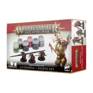 Games Workshop Age of Sigmar  Paint Sets Age of Sigmar: Orruks Gutrippaz + Paint Set - 52170209001 - 5011921157556